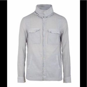 All Saints Rocco Funnel Neck Shirt Small